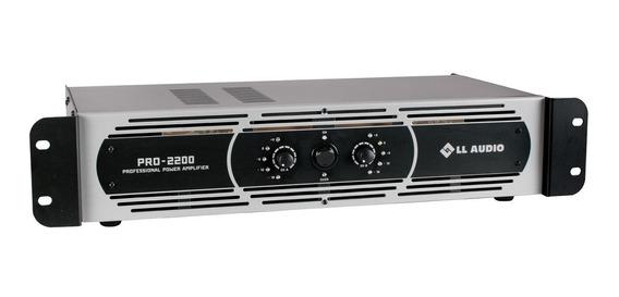 Amplificador Potência Prof. Ll Áudio Pro2200 550w Nca Ysm