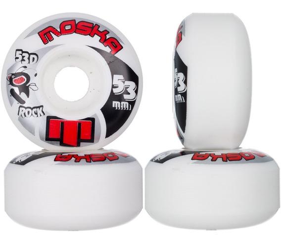 Roda Moska Skate 53mm 53d Rock Branca Street Original