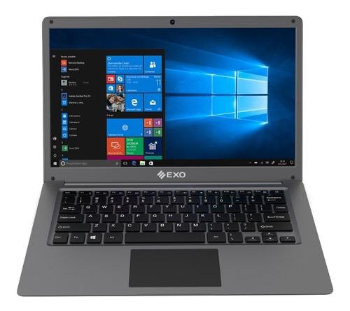 "Notebook Exo Smart C25 Plus gris 14"", Intel Celeron N3350  4GB de RAM 500GB HDD 64GB SSD, Intel HD Graphics 1366x768px Windows 10 Home"