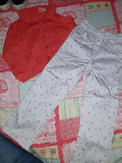 Saquito Y Pantalon 3/4 Años Traido De Francia