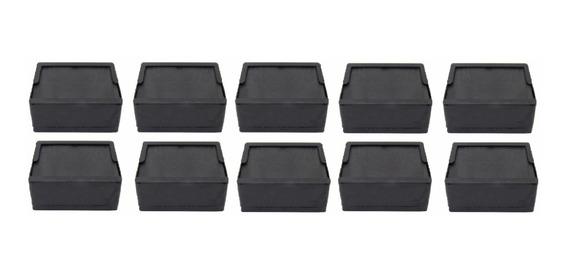 Porta Guardanapos Preto Deitado Kit Com 10 Unidades
