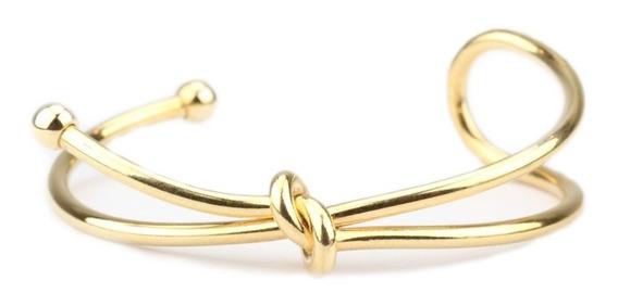 Bracelete Dourado Nó Duplo - Pl040027