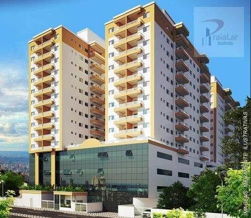 Apartamento Com 2 Dormitórios À Venda, 57 M² Por R$ 281.700,00 - Boqueirão - Praia Grande/sp - Ap2582