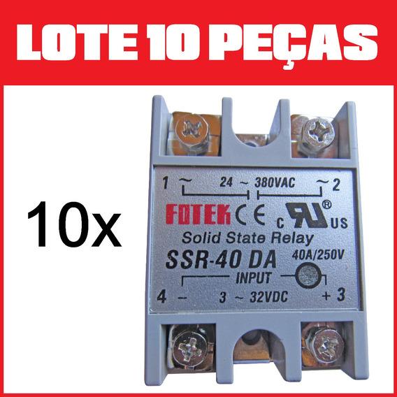 10 Peças Relé De Estado Sólido Ssr 40 40a Fotek Frete Grátis
