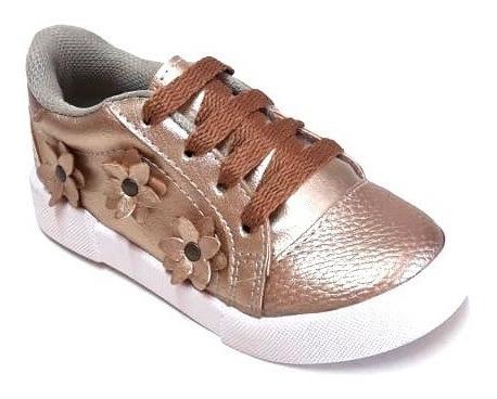 Zapatillas Nenas Sneaker Flores Cordon Simonetta 21/26 612