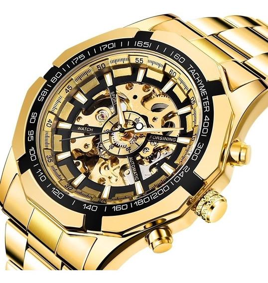 Relógio Mecânico Automático. Original, Todo Em Inox!