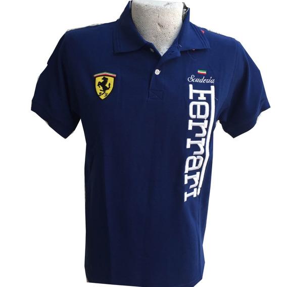 Playera Ferrari Azul Rey Talla Xl Envío Gratis