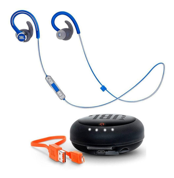 Fone De Ouvido Jbl Reflect Contour 2 Bluetooth Azul + Case