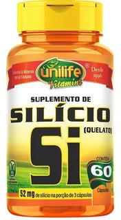 Silício Quelado 60 Capsulas Unilife Cod. 026