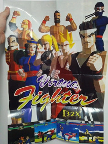 Pôster Virtua Fighter Mega Drive 32x
