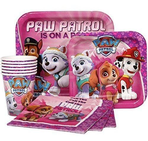 Paw Patrol Pink Girls Niños Fiesta De Cumpleaños Suministros