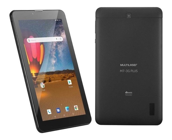 Tablet Preto M7 3g 16gb Dual Chip Android 8.1 Wifi + Capa