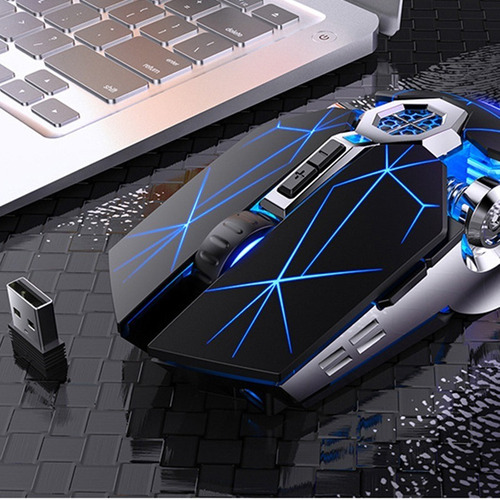 Mouse Gamer A7 Rgb 7 Botones Inalambrico Recargable Ergonómi