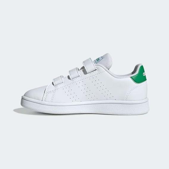 Tenis adidas Adv Jr Blanco/verde