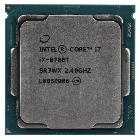 Processador gamer Intel Core i7-8700T CM8068403358413 de 6 núcleos e 4GHz de frequência com gráfica integrada