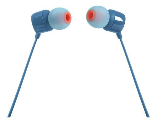 Imagen 1 de 4 de Audífonos in-ear JBL Tune 110 blue
