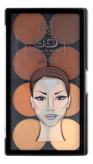 Rk By Kiss Paleta De Contorno 3d Contour Powder Medium Dark