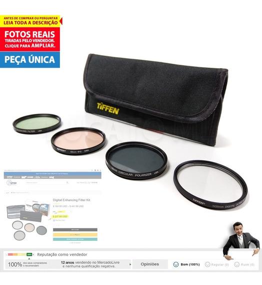 Kit 4 Filtro 58mm Tiffen Polarizador Circ. Uv 812 Enhancing