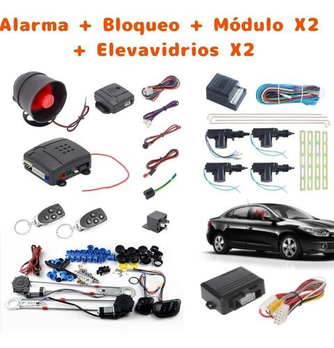 Imagen 1 de 6 de Combo Alarma Bloqueo Módulo Y Elevavidios Automático X2