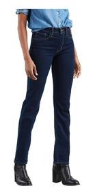 Calça Jeans Levis 724 High Rise Straight Lavagem Escura