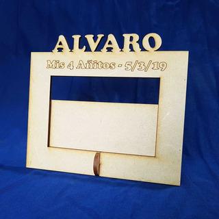 30 Portaretratos Fibrofacil Con Nombre Personalizados 10x15
