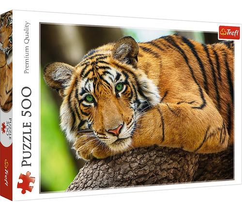 Rompecabezas Trefl 500 Piezas: Mirada De Tigre
