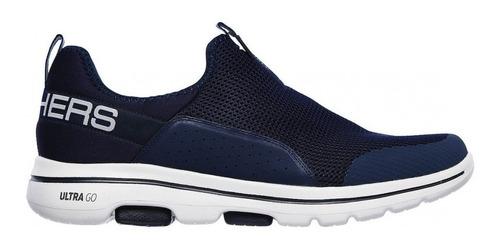 Zapatillas Skechers Hombre Go Walk 5 Downdraft Navy Grey