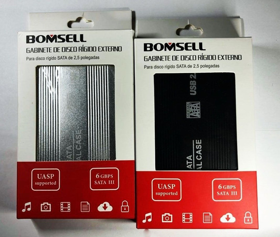 Case Para Disco Rígido Externo 2,5 - Sata - Bomsell