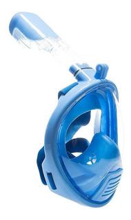Blue - Niños Completo Cara Snorkel Mascara Buceo Snorke-8750