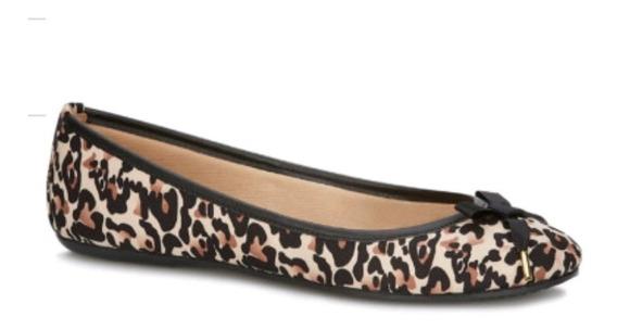 Zapato Andrea Ballerina Leopardo Animal Print 2598185
