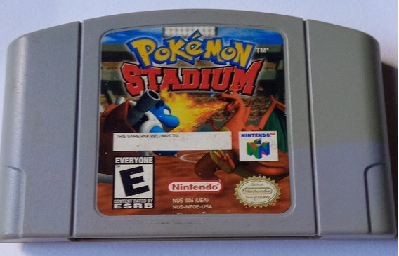 Cartucho Pokémon Stadium Nintendo 64 Original Salvando Usa.