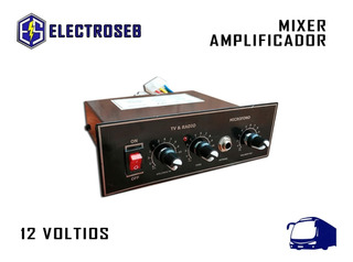 Mixer Amplificador Radio Y Tv Para Bus
