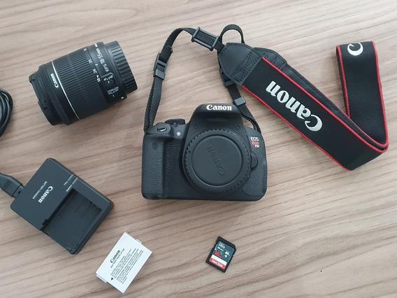 Câmera Canon T5i (usada) + Lente 18-55mm