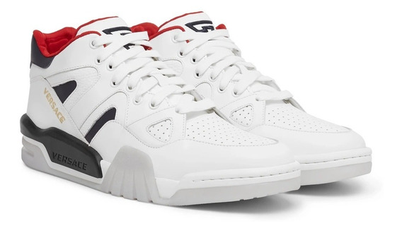 Tenis Versace Ophion White Leater Sneakers Originales Hombre