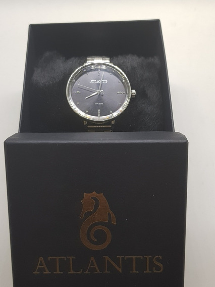 Relógio Feminino Prateado Atlantis
