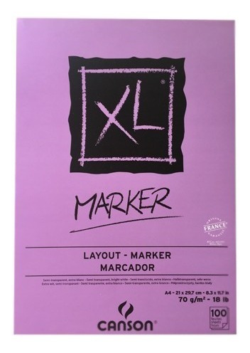 Block Xl Marker Canson 21 X 29.7 Cm 70 G/m2