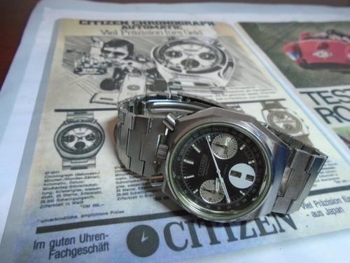 Citizen Panda  Bull Head  8110 Octagon Chronograph 67 9356