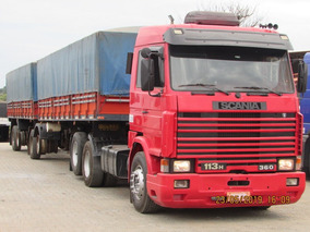 Scania R113 Top Line Carreta Bitrem Graneleiro