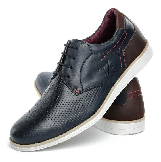 Sapatênis Casual Masculino Sapato Estilo Oxford Em Couro