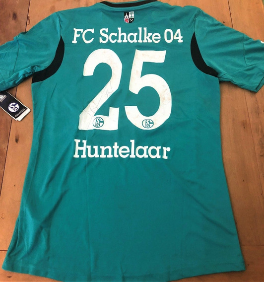 Camisa Do Schalke 04 Autografada Klaas-jan Huntelaar