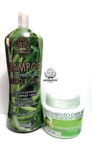 Shampoo Romero Y Tratamiento Capilar Agua - L a $25