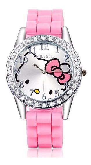 Reloj Hello Kitty Rosa Brillantes. Envio Gratis.