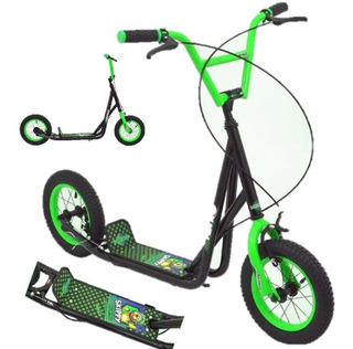 Scooter Verde, Patin Del Diablo Niño, Rodado12, Envio Gratis