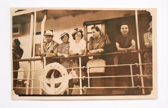 Foto Postal Barco Ciudad De Colonia En Buenos Aires 1943