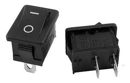 ( 2)dos Interruptor Kcd11 250vac 3a 2 Pine Switch 15 X 10mm