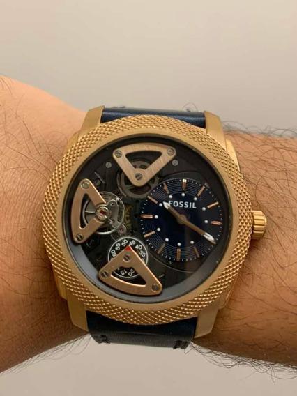 Relógio Fossil Me1158 Pulseira Em Couro Genuíno