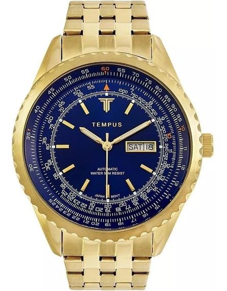 Relógio Masculino Tempus Magnific Zw30321a Gold Blue