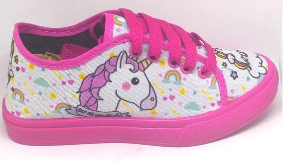 Tênis Unicornio Feminino Infantil Promoção Sem Led Tipo Sapatênis Barato Macio E Confortável