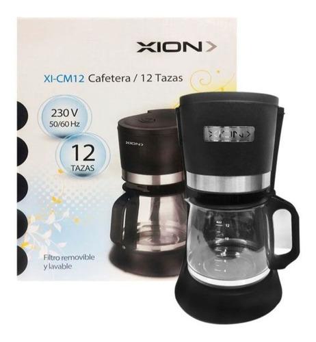 Imagen 1 de 7 de Cafetera Xion 12 Tazas 800w Con Filtro Permanente Cm12 - Sas