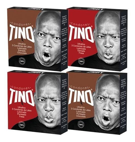 Mix De Condones El Tino X 4 Cajas. - Unidad a $1500